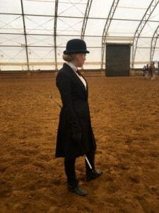 Alicia preparing for the first class of the show season